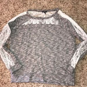 Express lace sweater